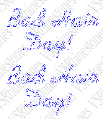 Bad Hair Day (2) Rhinestone Transfer